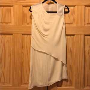 Rag & bone cream mesh silky dress dvf maje sandro